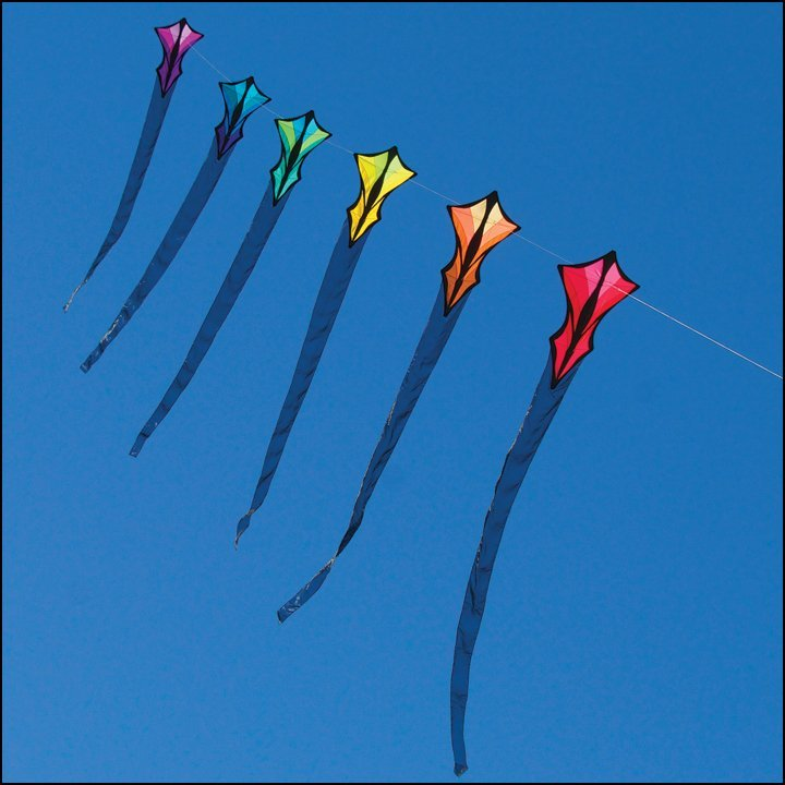 6-Stack Delta Diamond Kite Train